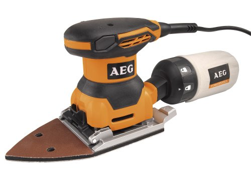 Preisvergleich Produktbild AEG FDS140 Deltaschleifer mit Klettbefestigung,  260 W,  mit Staubbeutel,  sehr leicht,  Handgriff mit Softgrip-Auflage-FDS140