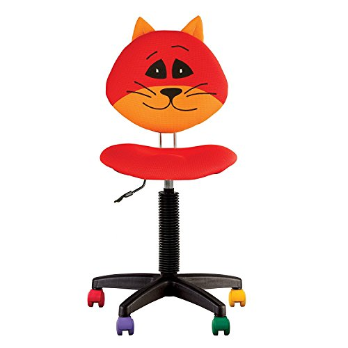 Sedia giocattolo da scrivania per bambini, ergonomica, altezza dello schienale regolabile, profondità della seduta regolabile, ruote multicolore