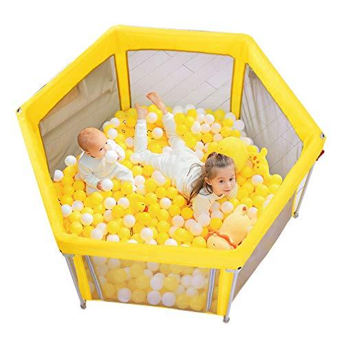 Draagbare babyloopstal met katoenen mat, speelplaats, indoor veiligheidsplaat, kinderactiviteitscent, reizen, loopstal, tent, speelhuisje voor kinderen, 54 x 30 inch