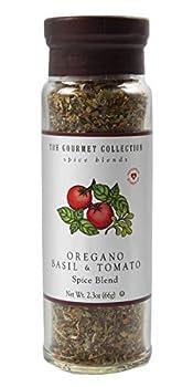 The Gourmet Collection Spice & Seasoning Blend Oregano Basil & Tomato Spice Blend Greek Mediterranean Italian Herb Seasoning Salt Free 156 Servings.