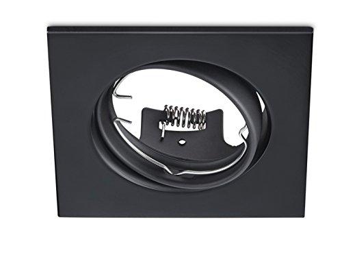 Spot encastrable avec ampoule LED rectangulaire orientable Noir mat GU10 - Culot flexible moderne