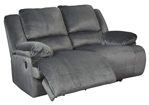 Signature Design by Ashley Clonmel Reclining Loveseat Charcoal