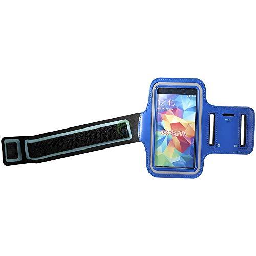 MASILY Sport Armband Handy Tasche Samsung Galaxy S4 Blau Fitness Joggen Schutz Hülle Neopren