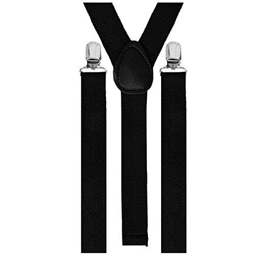 Bretelles de pantalon élastiques 3clips, unisexe, réglable - - Taille unique