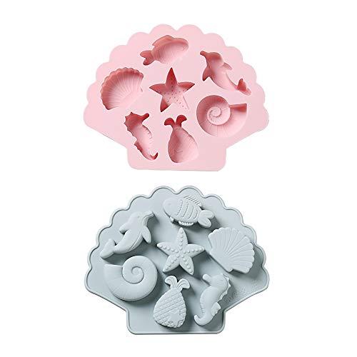 RUIXFFT Sanft Silikonform Kuchen Muffin, Mooncake Pfannen Für Die Herstellung Von Jelly Pudding Kekse Schokolade, DIY Handgemachte Seife Tablett Dauerhaft
