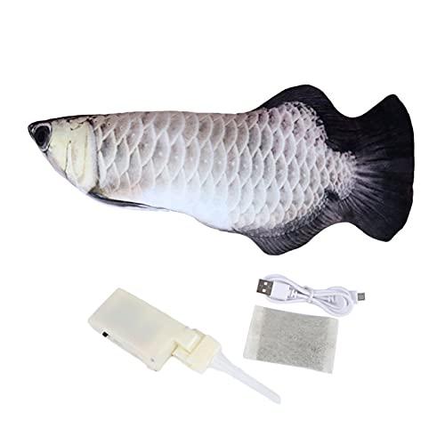 woyada Flopping Fish Moving Fish Juguete de peluche con luz y sonido realista Flopping Fish Wiggle Juguetes de movimiento gatito juguete