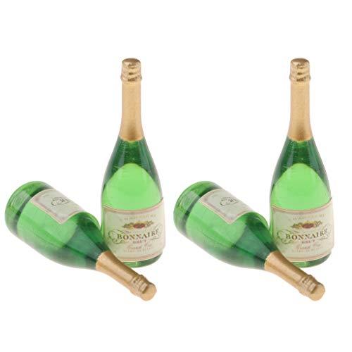 yotijar 4 Botellas De Vino En Miniatura Botellas De