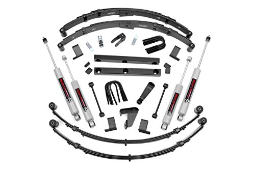 Rough Country 620N2 4' Lift Kit compatible w/ 1987-1995 Jeep Wrangler YJ w/Power Steering w/ N3 Shocks Suspension System