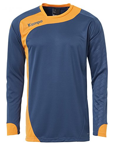Kempa Herren Peak Langarmshirt, Petrol/Orange, S