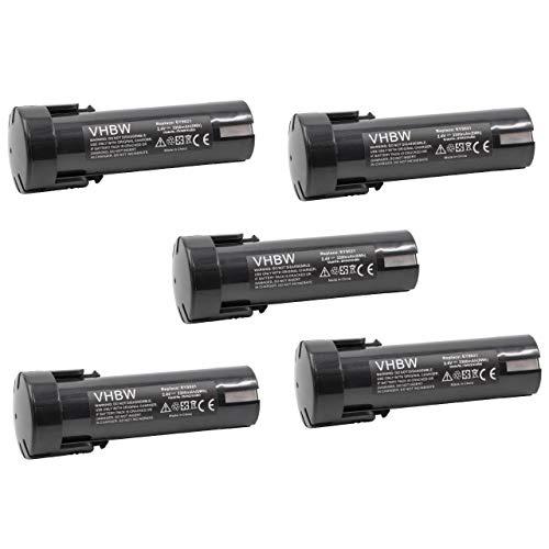 vhbw 5x Batería compatible con Weidmüller DMS 3 herramientas eléctricas (3300mAh NiMH 2,4V)