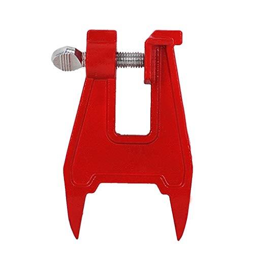 wyxhkj Stumpf-Schraubstock Sägekette Schärfen Feilen Werkzeugleiste Clamp Chainsaw Zubehör (Rot)