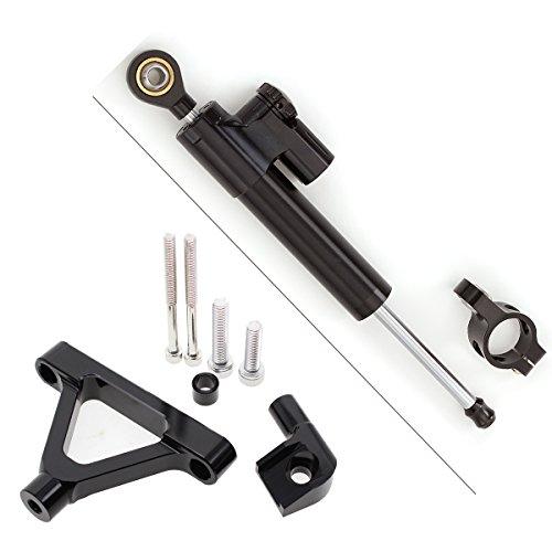 Motorrad CNC Einstellbare Lenkungsdämpfer & Halterung Montagesatz Für KAWASAKI Ninja ZX6R ZX-6R 2007 2008