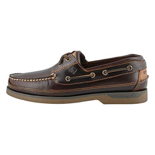 Sperry Men's Mako 2-Eye Boat Shoes, Amaretto, 11 M US