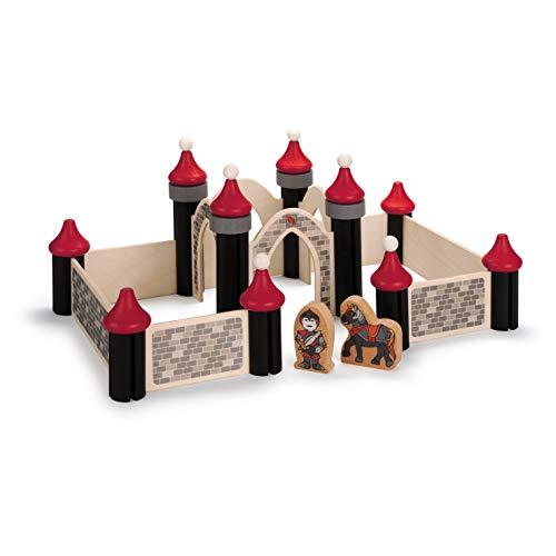 Erzi 41360 Ritterburg für Kinder, Holzspielzeug, Fördert die Kreativität