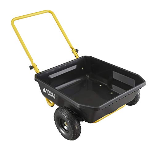 Gorilla Carts GCR-4 Poly Yard Cart