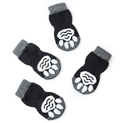 Pet Heroic Indoor Anti-Rutsch Socken für Hunde und Katzen -8 Größen von S bis 5XL für kleine-riesige Tiere - Pfotenschutz und Traktion Dank Silikon-Gel