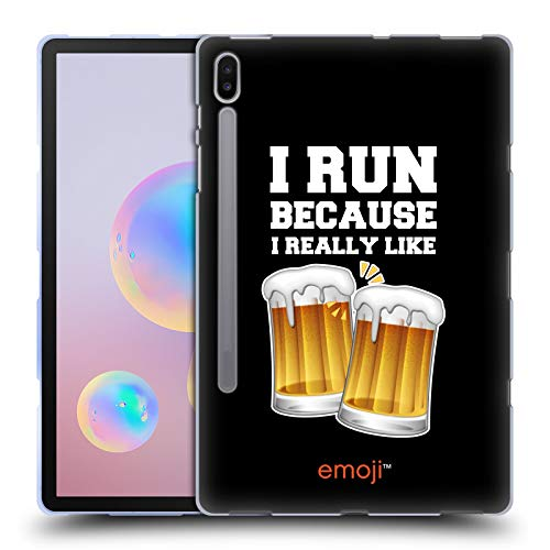 Head Case Designs Ufficiale Emoji® Birra Cibo Cover in Morbido Gel Compatibile con Samsung Galaxy Tab S6 (2019)
