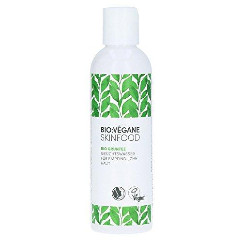 Bio: Vitgane Skinfod Bio groene thee – verzorgend gezichtswater voor de gevoelige huid, plantaardig, natuurlijk cosmetica voor gevoelige huid, per stuk verpakt (1 x 200 ml)