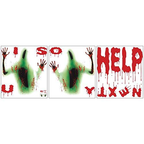goneryisour Horror Zombie Vampir Aufkleber Haunted House Poster Dekoration Wandaufkleber