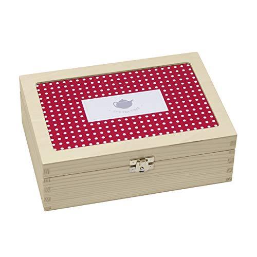 bunte Teebox aus Holz: individuelle Holzkiste für Teebeutel