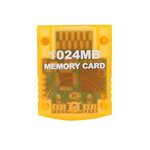sjlerst Carte mémoire pour WII,pour WII Gamecube,1024 MB de Grande capacité,Accessoires de Jeu pour Carte mémoire de Console de Jeu,Performances de Transmission Rapides et efficaces
