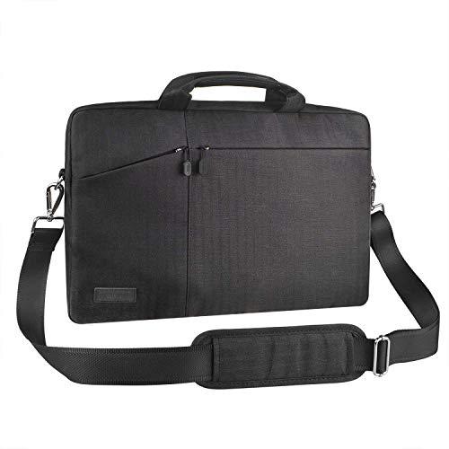 EKOOS Laptop-Tasche, 17–17.3 Zoll, mit Griffen und Schulterriemen Laptop Messenger Schultertasche Handtasche Tasche wasserdicht Multifunktionale Computer
