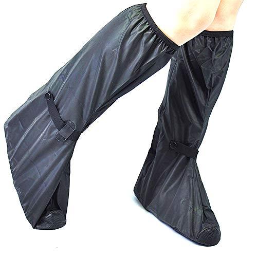 Copriscarpe da bici Multi-funzione impermeabile e antivento in nylon panno Blocco di scarpe di alta top-Cover Coperchio Bicicletta di guida del pattino di copertura di spessore Uomo Warm Shoe Accessor