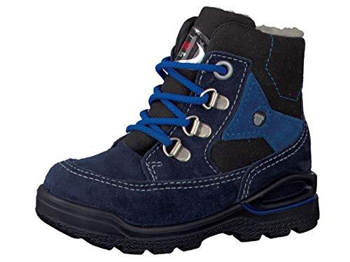 RICOSTA Pepino Jungen Winterstiefel Mike, WMS: Weit, wasserfest, Winter-Boots Outdoor-Kinderschuhe lammfell-Stiefel Kids,See/schwarz,25 EU / 7.5 UK