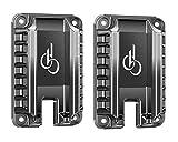 DB Quickdraw Gun Holster,Car Gun Magnet Mount 2 PCS, 15.4 lbs Rating,Quick Loaded Magnetic Gun Holster|Concealed Gun Holder for Flat top Handguns, Using in Vehicle, Trucks, Car, Wall, Desk