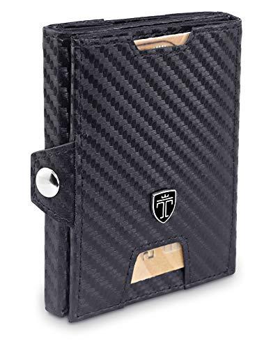 Slim Wallets for Men Carbon - Mens Minimalist Slim Wallet - RFID Credit Card Holder Wallet for Man - Mini Front Pocket Wallet Mens Wallet - Gifts for men