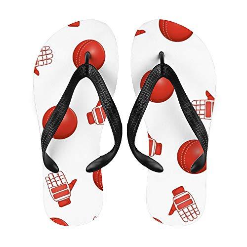 Baseball, Sport Flip-Flop Strand Sommer Hausschuhe Sandalen für Damen Herren blau niedlich, - Handschuhe4 - Größe: Medium