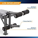 Marcy Competitor Adjustable Olympic Weight Bench with Leg Developer for Weight Lifting and Strength...