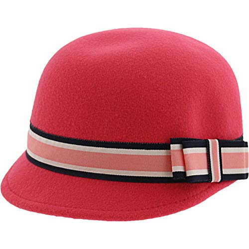 Janie and Jack Girl's Magenta Riding Hat - 4-5