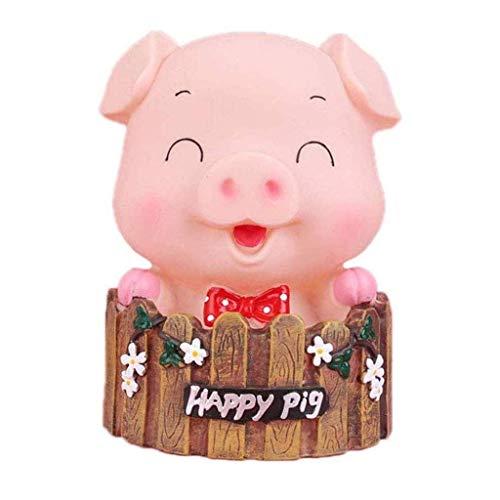 GJRFYJ Hucha de cerdo lindo, banco de cerdo encantador juguete banco de monedas decorativo ahorro banco de dinero rosa