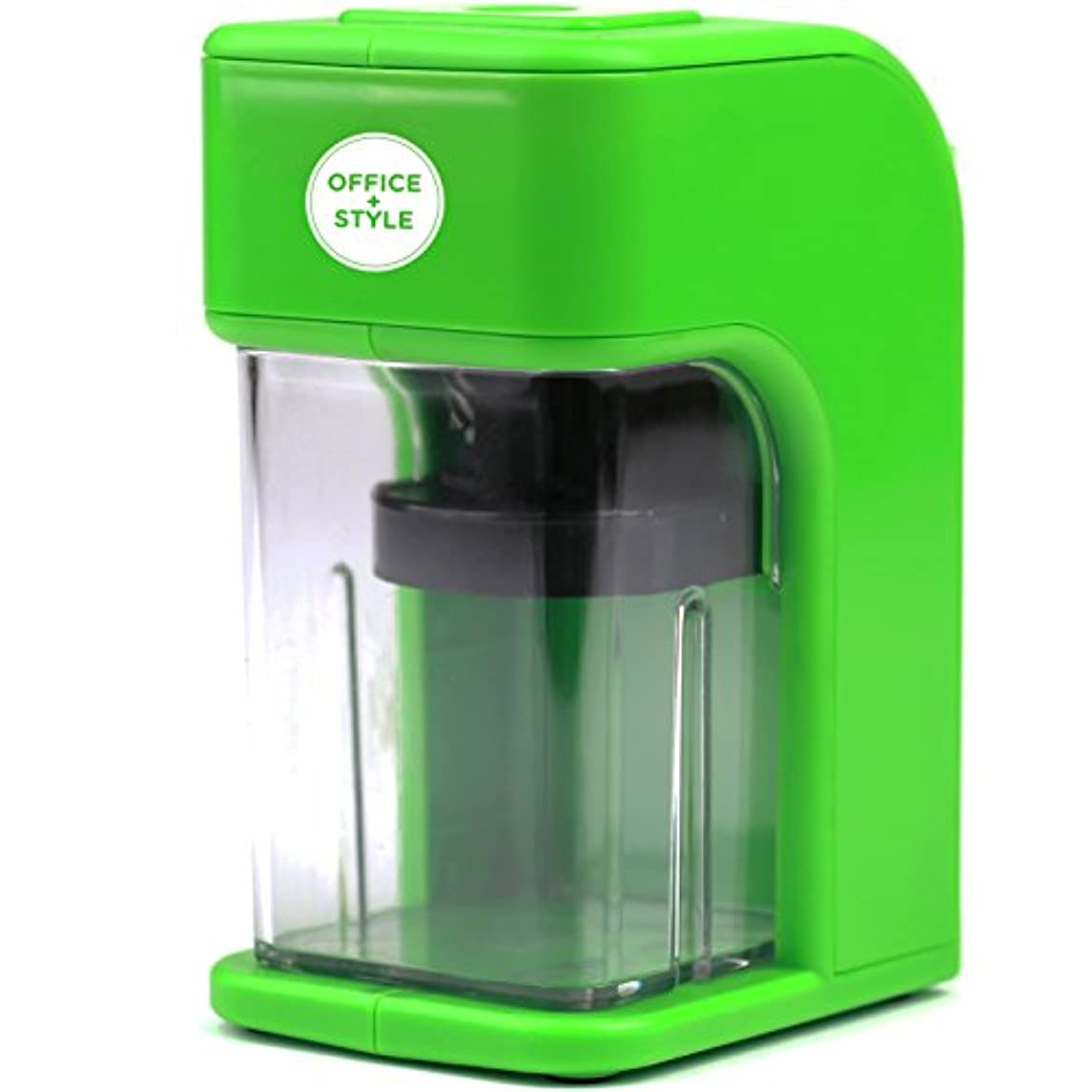 Electronic Pencil Sharpener With Auto Stop Safety Feature & Large Pencil Holder For Home, Office or Classroom - Green - By Office + Style
