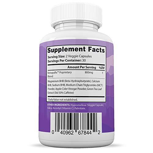 Ultra Fast Pure Keto Boost Pills Advanced BHB Ketogenic Supplement Exogenous Ketones Ketosis for Men Women 60 Capsules 1 Bottle 2