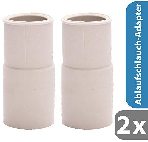 2x Pangaea Tech Ablaufschlauch-Adapter 19/21mm für Waschmaschine & Spülmaschine/Ablauf Endstück