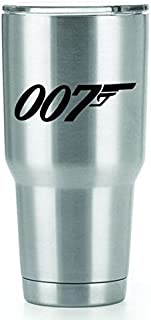 James Bond 007 Vinyl Decals Stickers ( 2 Pack!!! ) | Yeti Tumbler Cup Ozark Trail RTIC Orca | Decals Only! Cup not Included! | 2 - 4.5 X 1.5 inch Black Decals | KCD1063