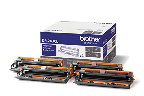 Brother DR-243CL originele drum voor laserprinters, drukt 18.000 pagina's, zwart, cyaan, magenta, geel, 4 stuks