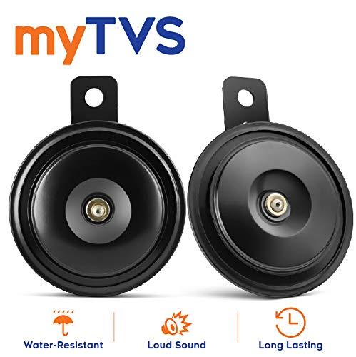 myTVS HO-4 Long Range Car/Bike Horn Set of 2-Black