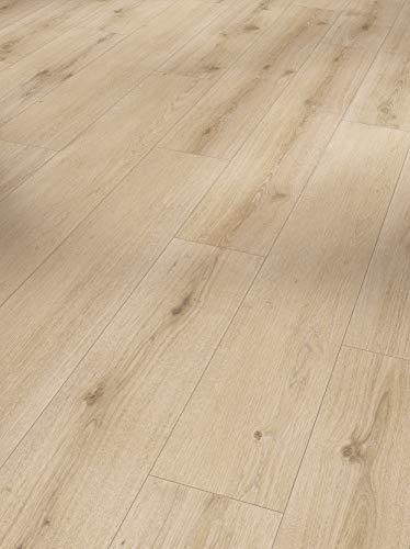 Parador Modular One - Bodenbelag Eiche Urban Hell Gekälkt - Elastischer Bodenbelag in Holz-Optik, schallgedämmt, mit Klick-Verlegung - ohne Weichmacher - 1285 x 194 x 8 mm