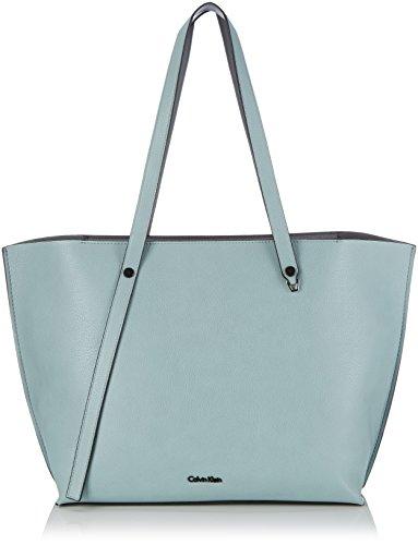 Calvin Klein Jeans Kirsten Shopper Tote - Bolsa De La Compra De Piel Sintética Mujer, Color Gris, Talla 33X29X16 cm (B X H X T)