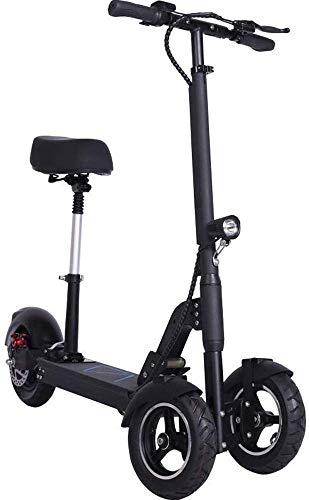 TONGS Elektro-Bike Adult 3-Rad Elektro-Scooter Folding Kleiner Autobatterie-Auto-Pedal-Fahrrad Umweltfreundlich/Schwarz / 100 km
