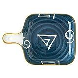 Bandeja de Fuente para Horno Plato de horno de cerámica, plato de senderos, plato para hornear rectangular, bandeja de hornear de cerámica, platos de cocina para horno