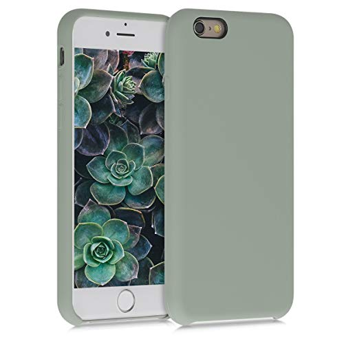 kwmobile Hülle kompatibel mit Apple iPhone 6 / 6S - Handyhülle gummiert - Handy Hülle in Graugrün
