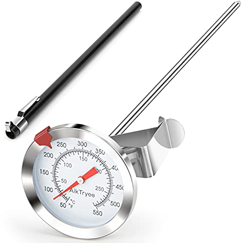 Instant Read Meat Thermometer, Deep Fry Thermometer, Oven Thermometer with Dial Thermometer(10-290℃/50-550℉)for Turkey BBQ Grill Oil by AikTryee