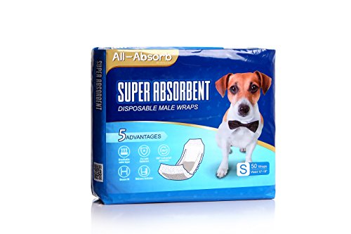 All-Absorb Male Dog Wrap, 50 Count, Small
