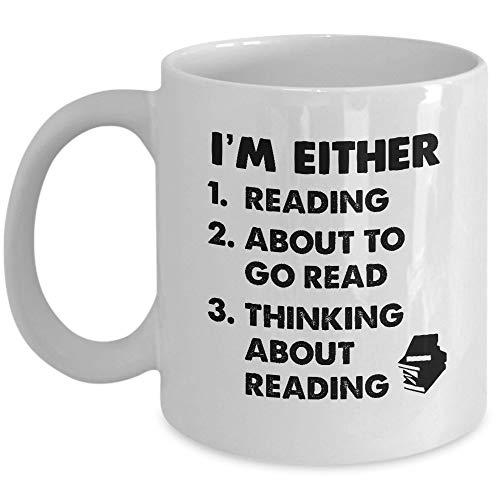 N\A Taza de Bibliotecario - Yo Soy Cualquiera. Taza de café y té - Taza de cerámica - Gran Idea Gusanos de Libros, Padres de Lectura novedosos, Madres, Hermanos, Amigos, él o Ella