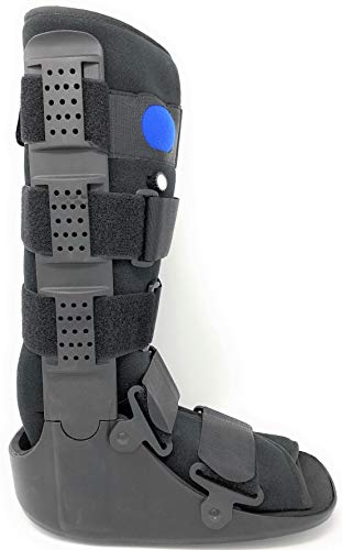 Superior Braces (Size Medium) High Top, Low Profile Air Pump CAM Medical Orthopedic Walker Boot for Ankle & Foot Injuries, Black, Male Shoe Size 7 1/2 - 10, Female Shoe Size 8 1/2 - 11 1/2