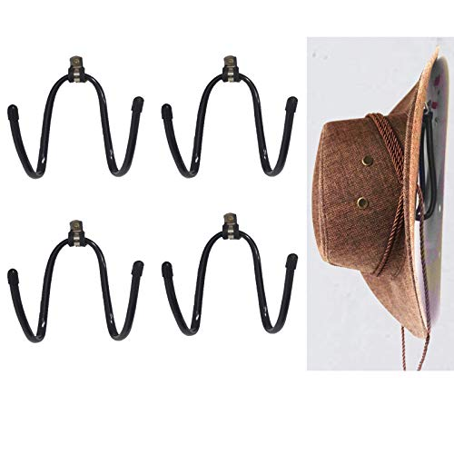 pack 4, Universal - Metal Rack - Cowboy Hat Rack/Cowboy Hat Holder/Coyboy Hat Organizer/Cowboy Hat Storage Display/Cowboy Hat Dryer Stand/Wall Mount - Suitable for all kinds of hat helmets